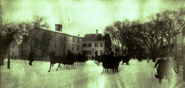 Sleigh races held in Medford, Mass. in the mid-19th century - described as high speed drag racing - inspired the popular song, Jingle Bells. (Medford Historical Society)