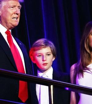 Donald Trump,Barron Trump,Melania Trump