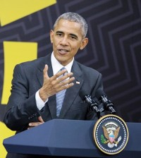 Barack Obama at his last scheduled international news conference following an APEC summit in Lima, Peru, on Sunday.
